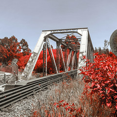 bridges grabouw iphone7plus railroad railway steel... (Photo: francois f swanepoel on Flickr)