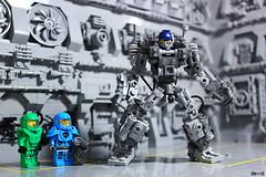 Mini Exo Suit (Devid VII) Tags: mini exo suit lego devid devidvii mecha diorama hangar base neo classic space spaceguy mech ncs