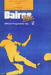 Falkirk vs Clydebank - 1980 - Cover Page (The Sky Strikers) Tags: falkirk clydebank scottish league division one brockville bairns view official programme 15p