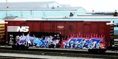 galaxe - procd (timetomakethepasta) Tags: galaxe procd freight train graffiti art ns boxcar norfolk southern benching selkirk new york