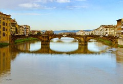 Florence bridge (clauspap) Tags: arno fiume river bridge firenze florence