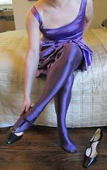 Purple2 (sensuousPH) Tags: pantyhose tights ceciliaderafael uppsala amatista crossdress cd tstrap pumps satin party dress purple heels charmeuse
