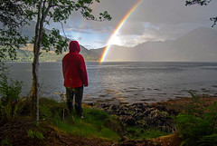 Somewhere... (trojanhorse1956) Tags: rainbows ratagan glenshiel scotland mountains coast shore rock nikon d40x uk highlands