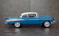1957 Chevrolet Bel Air Hardtop Sport Coupe (JCarnutz) Tags: 124scale diecast franklinmint 1957 chevrolet belair