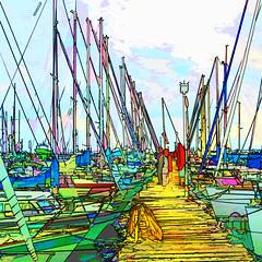 sailboats (j.p.yef) Tags: peterfey jpyef yef germany kiel sailboats digitalart photomanipulation square ha