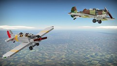 Boing BT-15 Magister (Lego Pilot) Tags: lego ldd wwii aircraft trainer boing pt15 magister blender achtfaden plane