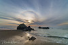 Sun Halo - Kehoe Beach Point Reyes (Marsha Kirschbaum) Tags: california sonyarii kehoebeach ©marshakirschbaum marincounty pointreyesnationalseashore oceanscape pacifccoast sunhalo clouds lowtide landscape rocks