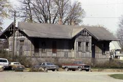 1985 Wabash Depot at oriinal  W. Wasington & Park St. location,, Monticello, IL (RLWisegarver) Tags: piatt county history monticello illinois usa il