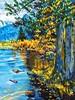 Special Moments at Crystal Lake (lindysue62) Tags: sunnyday lake pinetrees mountains sunlit trees shadyspot