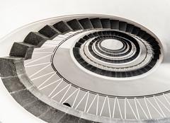 Into the Eye (*Capture the Moment*) Tags: 2017 architecture architektur fotowalk munich münchen sonya6300 sonyilce6300 spiral staircase stairs treppen treppenhaus zeisstouit2812 zeisstouitdistagon2812