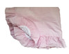Seersucker Ruffled Baby Blanket with Minky Lining (initial_impressions) Tags: embroidered personalized seersuckerbabyblanketwithminkylining pinkandwhitestripes
