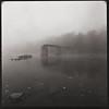 Bridge in Fog (DRCPhoto) Tags: hasselblad500cm kodakt400cnfilm 120film squareformat cheatriver westvirginia