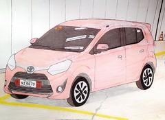 Toyota Wigo G (justjolliciousjoshg) Tags: keicar kei completelybuiltup drawing art toyotaagya toyotawigo smallcar toyota