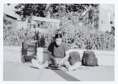 KodakTriX400Roll1-1 (George Karabinis) Tags: streetphotography dj musicproducer beats buildingbeats portrait les manhattan eddielu