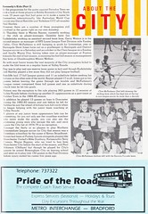 Bradford City vs West Bromwich Albion - 1989 - Page 29 (The Sky Strikers) Tags: bradford city wba west bromwich albion brom the valley parade littlewoods cup road to wembley official programme 80p