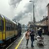 Damp Wolsztyn Morning (Kingmoor Klickr) Tags: wolsztyn poland wolsztynexperience ol4969 railway station passengers