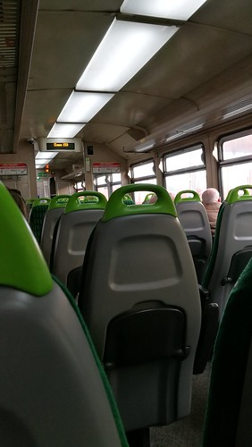 Coventry Station - London Midland 153354 - train interior