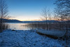 Lake in December (hans.johansson37) Tags: natur landskap båt solnedgång vinter vacker fridfull peaceful silence silent nature landscape cold blue sky colors december boat sunset sweden canon