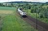 110 167  Ölbronn  27.06.87 (w. + h. brutzer) Tags: ölbronn eisenbahn eisenbahnen train trains deutschland germany elok eloks railway lokomotive locomotive zug db 110 e10 webru analog nikon