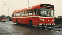Acq. photo . Southdown 53 - VOD603S . Southsea c. 1988 (busmothy) Tags: vod603s leylandnational nbc southdown devongeneral 53 2863 westernnational