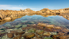 crystal clear (hjuengst) Tags: southafrica water reflection rocks crystalclear robberg naturereserve