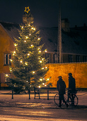 Xmas in Copenhagen (Meiday photography) Tags: copenhagen xmas københavn jul juletræ nyboderplads nyboder tree vinter canon eos winter sne night 50mm painting 550d christmas snow t2i lights maria meimei meimeipro