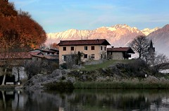 Winter in Valcamonica (annalisabianchetti) Tags: vallecamonica winter inverno paesaggio landscape montagne mountains italy scenic lake houses
