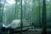camping on the grandfather mountain (martine.es) Tags: us usa camping campground camp camper van caravan woods forest wood trees nature america american analogue analoog analog film filmphotography fog grandfather mountain mist