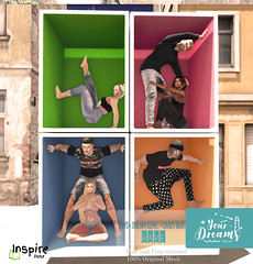Your Dreams & Inspire Pose // Dream Love (Your Poses (inspireStore)) Tags: event mesh original release exclusive newssl new second sl studio store 2life male coup single limit8