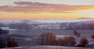 Inverno: Alba in Valdichiana