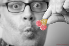 4/365 - Super Tart (roblee.photography) Tags: haribosourcherries me ocf sp selectivecolour selfportrait sweets project365 project3654 project36504jan18 2018 january canoneos6d ef70200mmf28lisusm pictureaday photoaday oneaday
