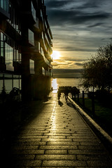 Aux couleurs d'Oslo (bastien.choisy) Tags: oslo sunrise sun water sea sky blue