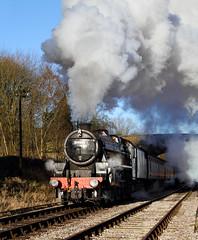 Sunshine And Shadow Near Haworth. (Neil Harvey 156) Tags: steam steamloco steamengine steamrailway railway 44871 haworthloop haworth keighleyworthvalleyrailway kwvr worthvalleyrailway black5 stanier lms