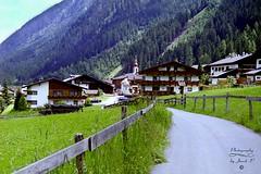 Road in Tirol (Jurek.P) Tags: tirol austria countryside scan 35mm minoltadynax7000i road church architecture jurekp