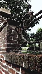 M Kirby Hosp (Allen F. Moore Estate) c1912 Brick Fence, 1111 N. State St, Monticello, IL 20170731-1013 (RLWisegarver) Tags: piatt county history monticello illinois usa il