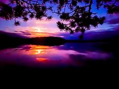 colors of the night by a lake (VisitLakeland) Tags: lake north savo night nightless blue colors reflection nature mystic järvi yläsavo yö yötön heijastus moon kuu