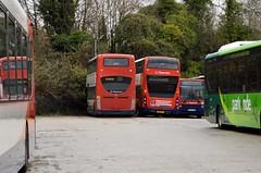 Bar End Depot (PD3.) Tags: 19161 mk07hbo mk07 hbo adl enviro 400 10893 yx67vcf yx67 vcf mmc volvo r937xvm r937 xvm b10m alexander ps bus buses psv pcv hampshire hants england uk winchester