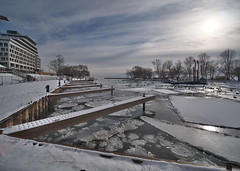 Winter (Gavin Edmondstone) Tags: bronteharbour brontecreek oakville ontario ice winter ultrawideangle laowa75mm