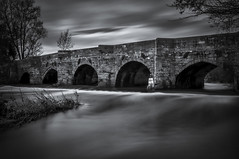 Dove Bridge (Alan E Taylor) Tags: arch architecture atmospheric bw blackwhite blackandwhite bridge countryside dark dramatic england europe fineart le landscape leebigstopper lightroom listedbuilding longexposure macphun macphuntonalityck mono monochrome noiretblanc river riverdove rural skylum staffordshire uk unitedkingdom uttoxeter water ancient britain british heritage picturesque scenic doveridge gb