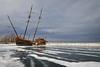 The Big Weasel (Bert CR) Tags: cold freezing icy lagrandehermine thegrandweasel wreck ship shipwreck testingourmettle grandscheme scheme shoreline frozen extremecold lakeontario lake frozenlake jordanharbour outdoors