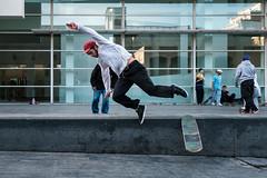 El Crussaito (D a n i V a l d é s) Tags: city cityscape skate landscape landscapes fuji xt2 fujixt2 fujifilmxt2 xseries fujifilmxseries barcelona catalunya travel love friends beauty beautiful guy boy jump human street streetphotography walking streets