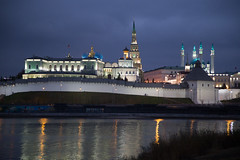 Kazan Kremlin by evening (jussitoivanen) Tags: kazan city citypic cityphoto cityscape urban urbanphotography urbanphoto urbanism unesco architecture architectur arkkitehtuuri
