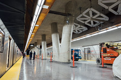 Pioneer Village Station (dtstuff9) Tags: toronto ontario canada ttc public transit commission subway station pioneer village platform train