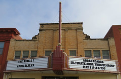 Woodward Theater (2 of 3) (jimsawthat) Tags: movies movietheater vintagetheater architecture architecturaldetails vintagesign neon metalsign smalltown downtown woodward oklahoma