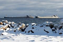 mich_olmMen121617_rb (rburdick27) Tags: lakeshore marquette lakesuperior ice snow michipicoten olivelmoore menominee tug barge scenicmichigan