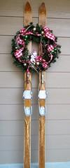 Everyone in Colorado Has Skis (Patricia Henschen) Tags: skis vintage wreath christmas decoration colorado antique decor