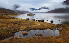 Wasdale (Ade G) Tags: landscape rocks weather clouds lakes mist mountains reflections