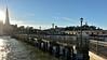 Pier 7 (cb dg photo) Tags: sun wood pier waterfront city lamps lights transamericapyramid telegraphhill coittower sanfranciscobay sf california sanfrancisco pier7