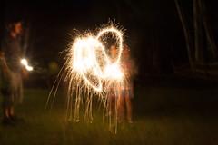 Light (roxannegochinski) Tags: sparklers lightplay