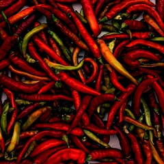 Piments (Martin Dedron - Textures) Tags: minimal aesthetic travel art square photography colour colors colours beautiful simple pattern texture fruit vegetable nature edible pepper hot red